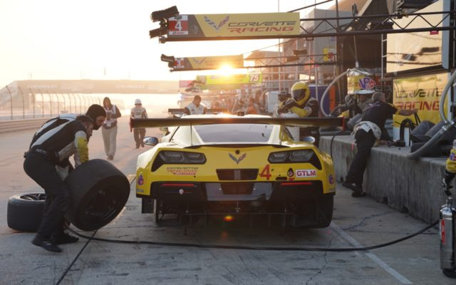 Corvette in early morning light at Sebring.  [Photo by Jack Webster]