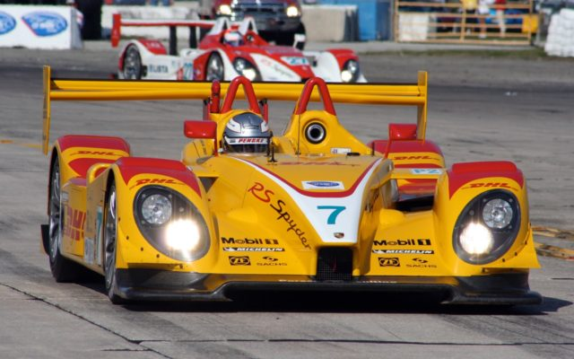 Romain Dumas in Penske Porsche at Sebring.  [Photo by Jack Webster]