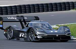 Romain Dumas testing the Volkswagen I.D. R. [Volkswagen photo]