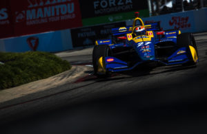 Alexander Rossi scores the pole position in qualifying for the Toyota Grand Prix of Long Beach on the Streets of Long Beach. [credit Dan Bathie / Spacesuit Media]