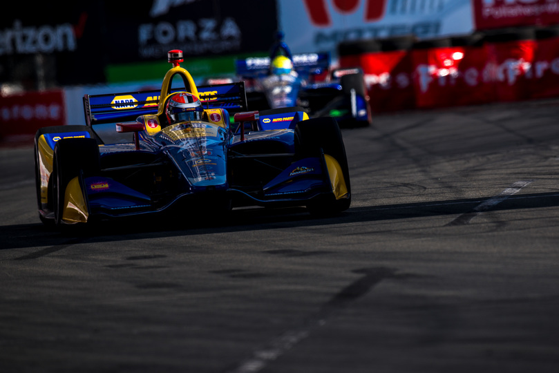 Alexander Rossi dominated the Toyota Grand Prix of Long Beach on the Streets of Long Beach. [credit Dan Bathie / Spacesuit Media]