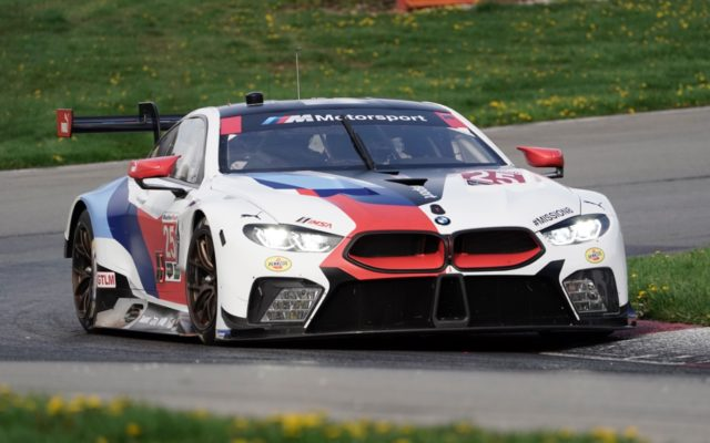 Alexander Sims put the second BMW into third in GTLM.  [Photo by Jack Webster]