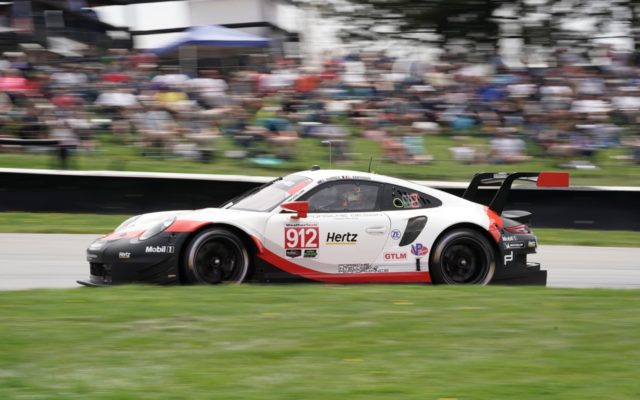 Acura Sports Car Challenge at Mid-Ohio GTLM winning Porsche 911 RSR.  [Photo by Jack Webster]