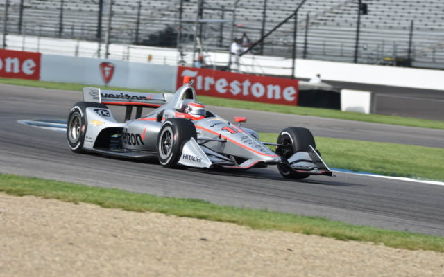 Helio Castroneves returns to the Verizon IndyCar Series at the Indianapolis Motor Speedway.  [John Wiedemann Photo]