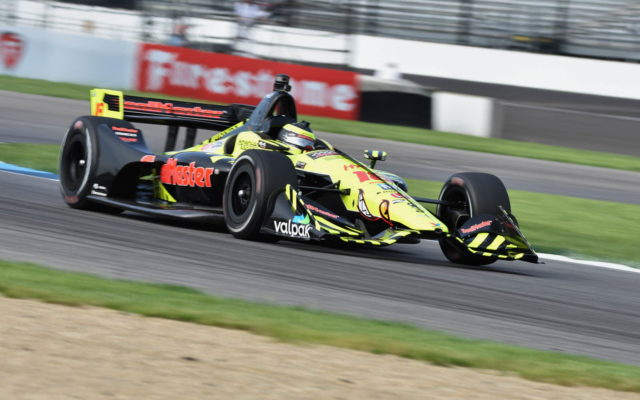 Sebastien Bourdais in the opening practice for the INDYCAR Grand Prix.  [John Wiedemann Photo]