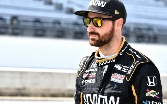James Hinchcliffe prior to qualifying for the INDYCAR Grand Prix.  [John Wiedemann Photo]