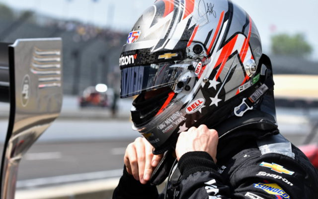 Josef Newgarden gets ready for qualifying at Indianapolis.  [John Wiedemann Photo]