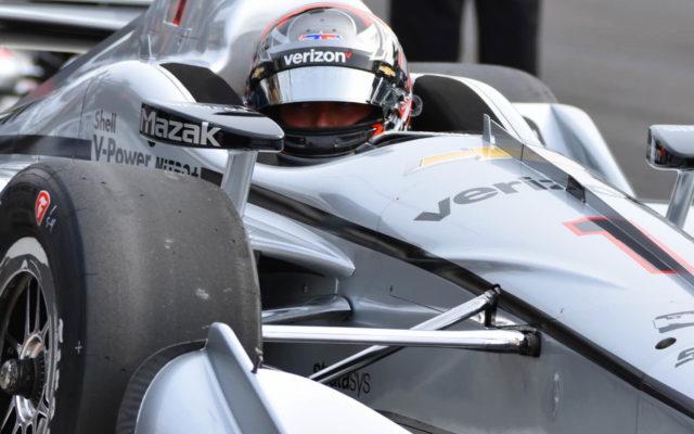 Joesf Newgarden ready to roll out in qualifying.  [John Wiedemann Photo]