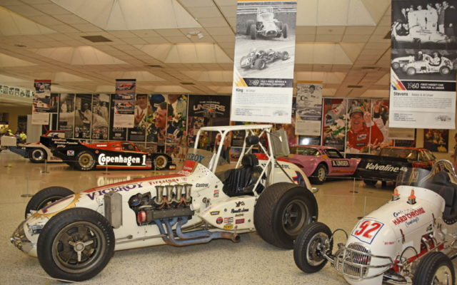 Room 2 has cars raced by the Unsers on dirt along with stock cars and a sizable Pikes Peak exhibit.  [Joe Jennings Photo]