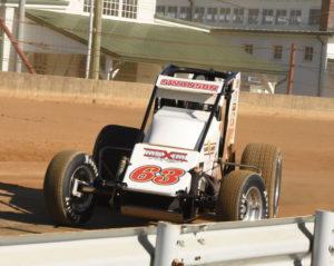 Fast qualifier and race winner Kody Swanson powers through Turn 1. [Joe Jennings Photo]