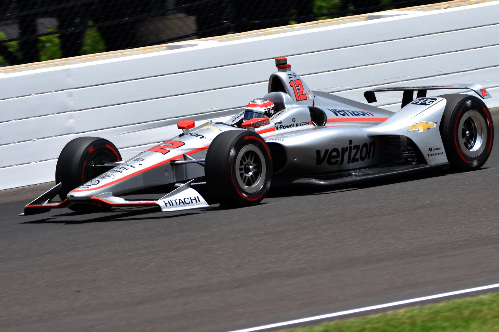 Will Power, winner of the 102nd Indianapolis 500 at the Indianapolis Motor Speedway. [John Wiedemann Photo]