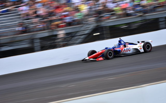 Tony Kanaan led 19 laps but crashed out of the Indianapolis 500.  [John Wiedemann Photo]