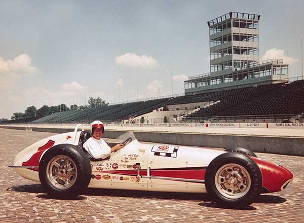 A.J. Foyt at the Speedway in 1961. [photo courtesy Indianapolis Motor Speedway]