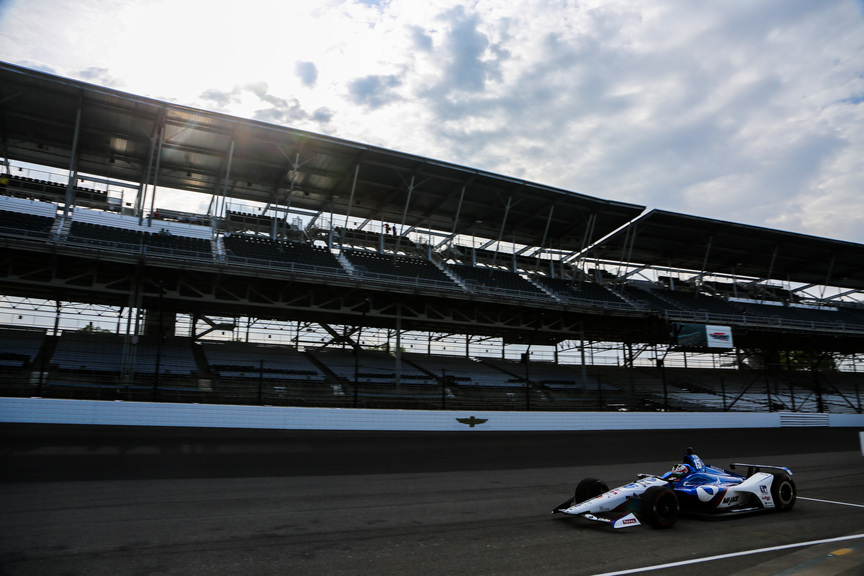 Graham Rahal during practice for the Indianapolis 500 at the Indianapolis Motor Speedway. © [Andy Clary / Spacesuit Media]