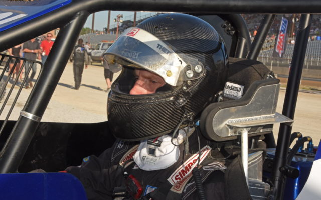 Chris Dyson behind the wheel.  [Joe Jennings Photo]
