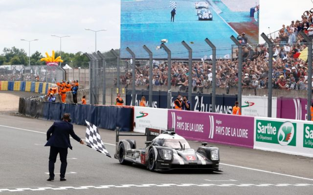 Porsche victory at Le Mans in 2016.  [photo by Porsche Motorsport]