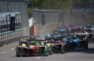 FIA Formula E action. [Photo by Audi Motorsport]