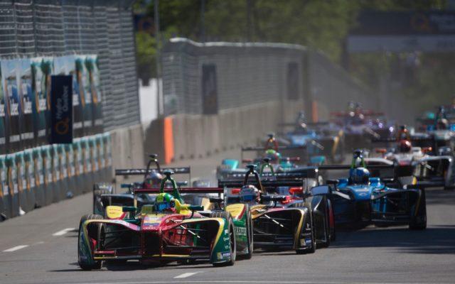 FIA Formula E action.  [Photo by Audi Motorsport]
