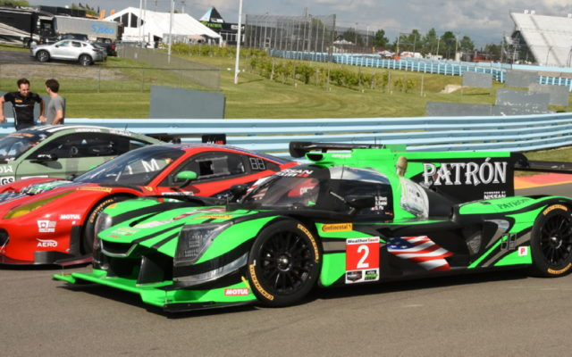 Team Patron Nissan adorned in patriotic colors.  [Joe Jennings Photo]