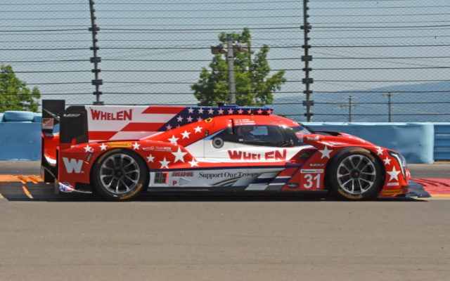 Action Express Racing Cadillac sports stars and stripes.  [Joe Jennings Photo]