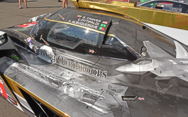 "Action Express Racing Prototype sported colorful graphic entitled ""Support Our Troops.""  [Joe Jennings Photo]"
