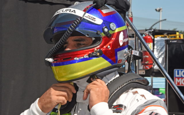Juan Pablo Montoya gets ready for action.  [Joe Jennings Photo]