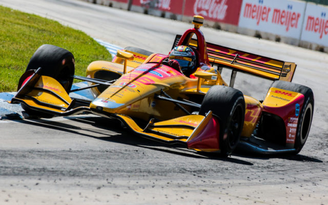 Ryan Hunter-Reay races to a dominating victory in the Detroit Grand Prix.  © [Andy Clary / Spacesuit Media]