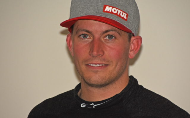 A smiling Colin Braun was pleased to win the pole.  [Joe Jennings Photo]