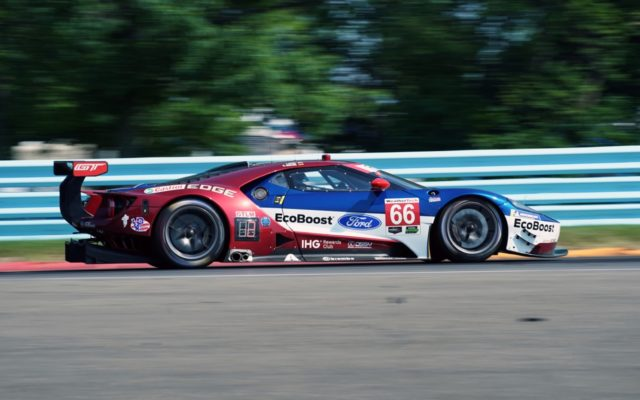 GTLM winning Ford GT at speed.  [Photo by Jack Webster]