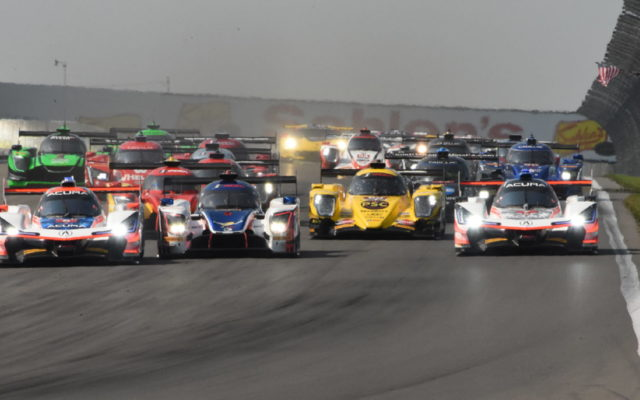 Prototypes jockey for position at the start of the Six-Hour race. [Joe Jennings Photo]