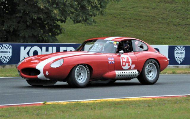 #64 Lee Eberle (64 Jaguar XKE)  [Dave Jensen Photo]