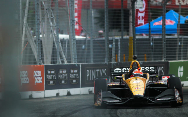 James Hinchcliffe on the streets in the Honda Indy Toronto.  © [Adam Piggot / Spacesuit Media]