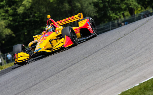 Ryan Hunter-Reay qualified third for the Honda Indy 200 at Mid-Ohio.  © [Andy Clary / Spacesuit Media]