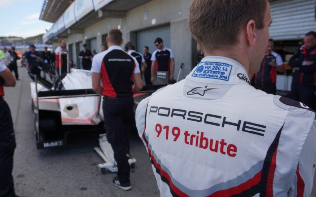 Andre Lotterer in the Porsche 919 Tribute.  [Photo by Jack Webster]