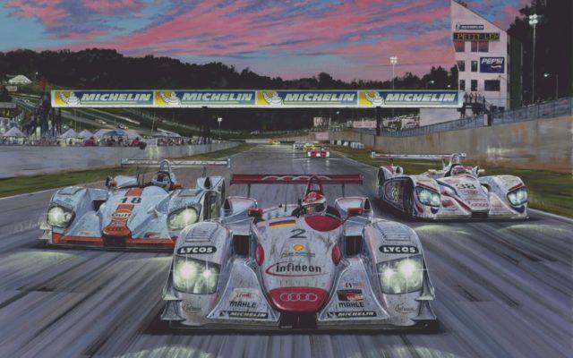 Petit Le Mans 2001.  [Artwork by Roger Warrick]