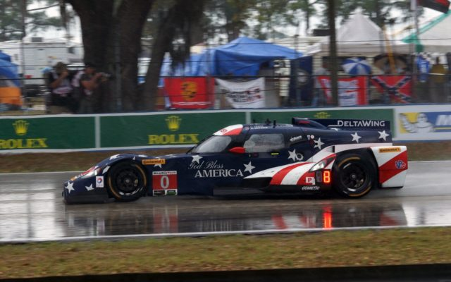 The DeltaWing will make a lap of honor at Petit Le Mans.  [Photo by Jack Webster]