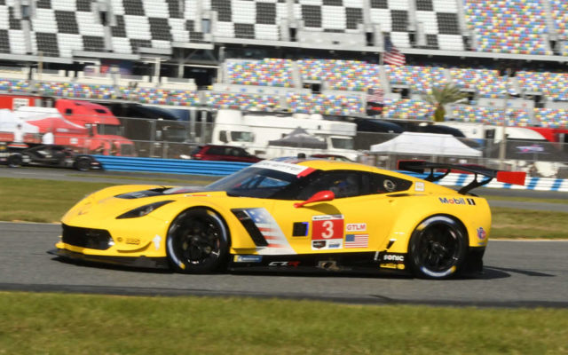 Corvette Racing exits the east Horseshoe of the 3.56-mile course.  [Joe Jennings Photo]