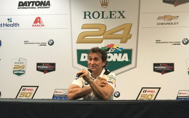 Fan favorite Alex Zanardi at the Roar press conference.  [Eddie LePine Photo]