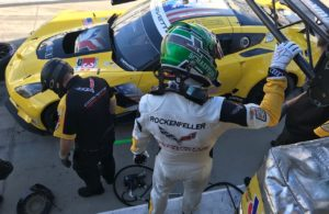 Mike Rockenfeller about to get into the Corvette. [Eddie LePine Photo]