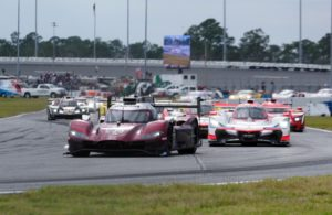 Opening lap, Mazda leads. [Photo by Jack Webster]