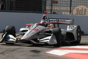 Will Power in action going through Turn 10.   [Joe Jennings Photo]