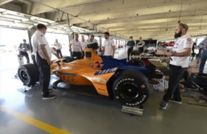 The McLaren team at the Texas Motor Speedway test. [Chris Owens Photo]