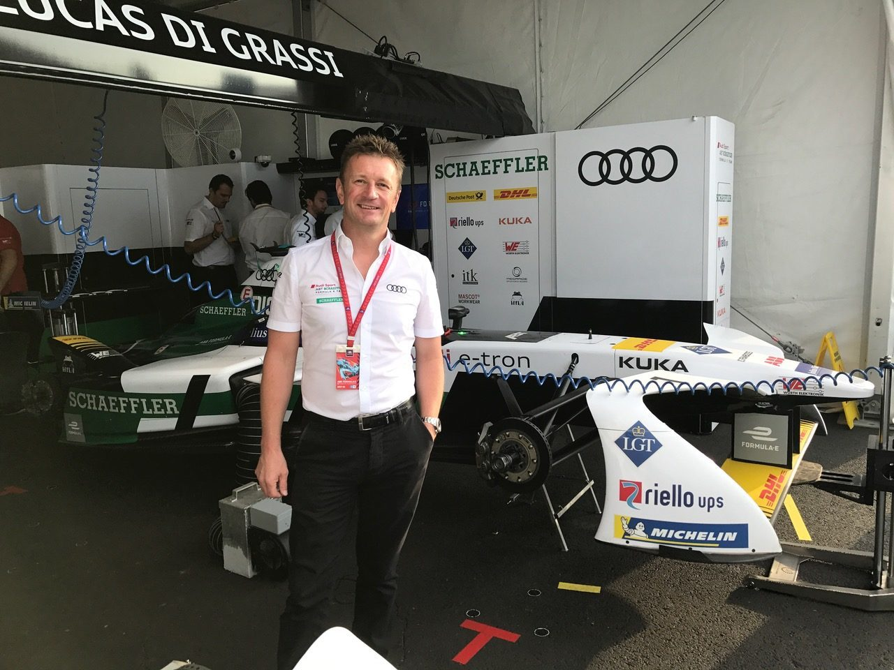 Audi Team Principal, Allan McNish.  [Photo by Eddie LePine]