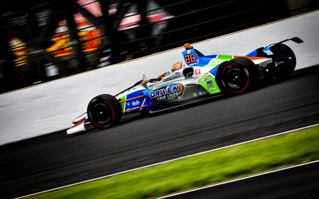 Pippa Mann finished a career best 16th in the Indianapolis 500.  [John Wiedemann Photo]