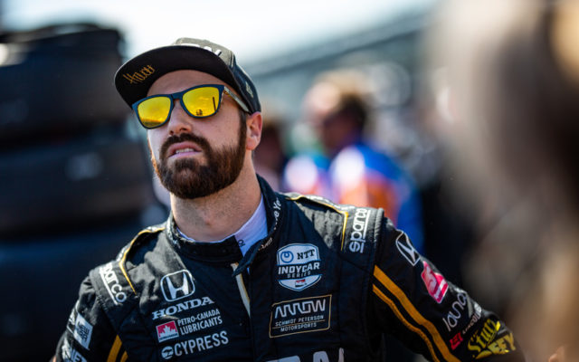 James Hinchcliffe – Indianapolis Motor Speedway.  © [Andy Clary/ Spacesuit Media]