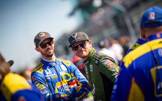 Alexander Rossi and Coner Daly – Indianapolis Motor Speedway.  © [Andy Clary/ Spacesuit Media]