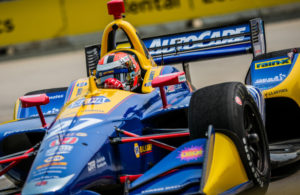 Alexander Rossi at the Chevrolet Detroit Grand Prix. © [Andy Clary/ Spacesuit Media]