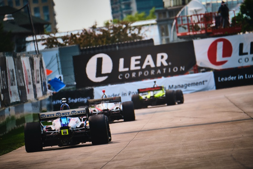Felix Rosenqvist during practice for the Chevrolet Detroit Grand Prix. © [Jamie Sheldrick/ Spacesuit Media]