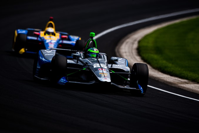 Conor Daly and Alexander Rossi - Indianapolis Motor Speedway. © [Peter Mining/ Spacesuit Media]