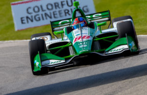Colton Herta with a record setting pole run at Road America. [John Wiedemann Photo]